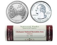 Chickasaw P Mint Quarter Roll