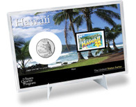 Hawaii State Quarter & Stamp Set
