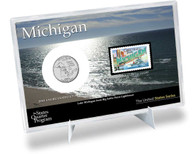 Michigan State Quarter & Stamp Set