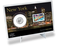 New York State Quarter & Stamp Set