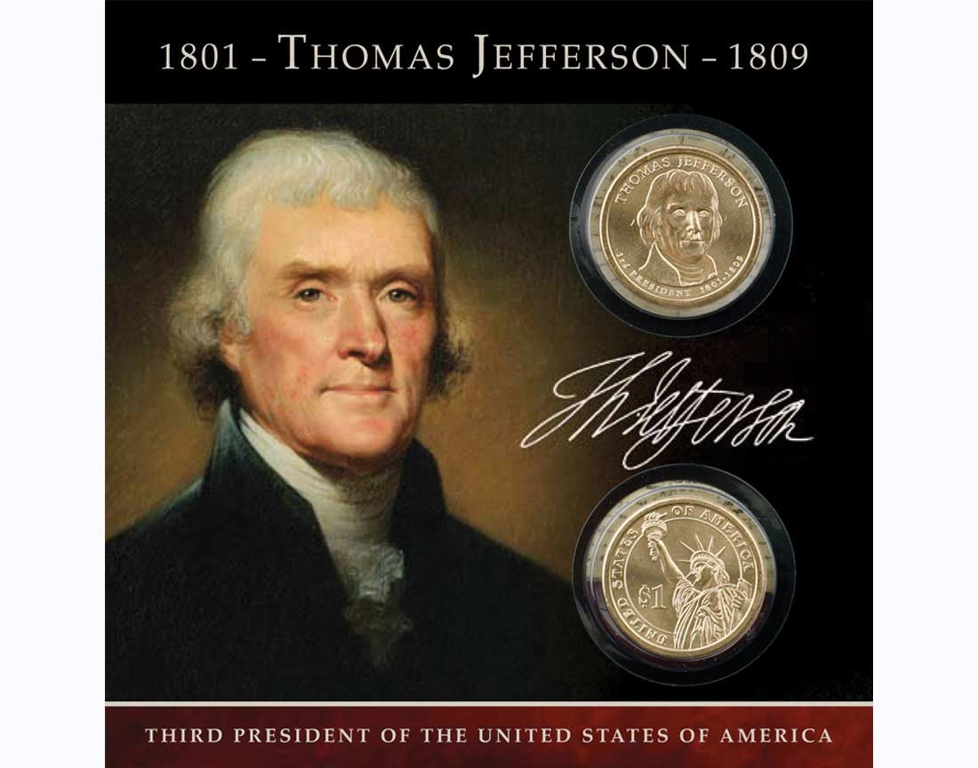 ... Coins Dollars Presidential Thomas Jefferson $1 Coin Collection