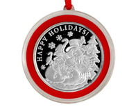 Snowman Silver Coin Ornament