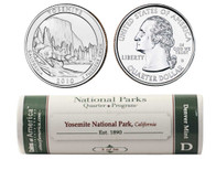 Yosemite D Mint Quarter Roll