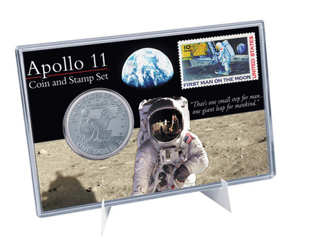 Apollo 11 Coin & Stamp Set