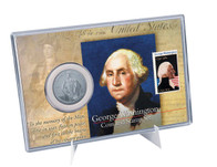 George Washington Coin & Stamp