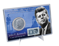 1964 JFK Coin & Stamp Set