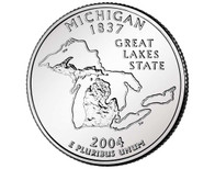 2004 Michigan Quarter P Mint