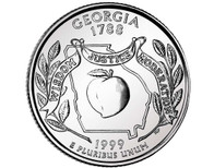 1999 Georgia Quarter P Mint