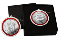 Green Bay Packers Silver Coin Ornament