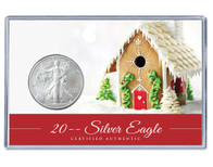 Christmas Silver Eagle Acrylic Display - Gingerbread