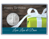 Birthday Silver Eagle Acrylic Display - Present - Customized
