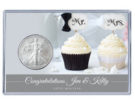 Wedding Silver Eagle Acrylic Display - Cupcakes