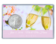 Wedding Silver Eagle Acrylic Display - Champagne