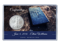 Confirmation Silver Eagle Acrylic Display - Bible