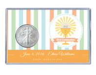 Communion Silver Eagle Acrylic Display - Orange