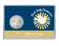 Communion Silver Eagle Acrylic Display - Blue