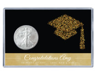 Graduation Silver Eagle Acrylic Display - Glitter