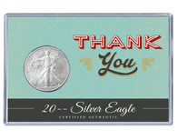 Thank You Silver Eagle Acrylic Display