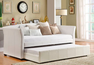 Homelegance Milan White Leather Daybed lifestyle