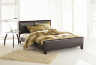 Fashion Bed Group Euro Upholstered Platform Bed Sable