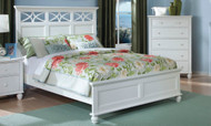 Homelegance Sanibel White bed