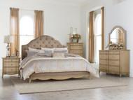 Homelegance Ashden Driftwood 4-Piece Upholstered Bedroom Set