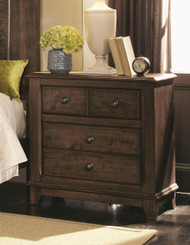 Coaster Laughton Casual Two-Door Nightstand in Cocoa Brown Image 1