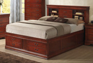Coaster Louis Philippe Bed in Cherry 2
