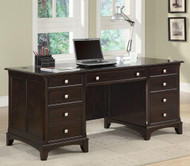 Coaster Garson Double Pedestal Desk with 7 Drawers