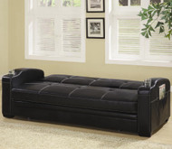 Coaster Fine Furniture Faux Leather Sofa Bed with White Stiching
