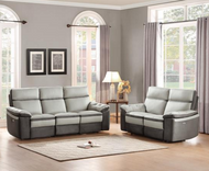 Homelegance Otto Sofa and Loveseat in Light Grey