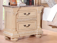 Homelegance Russian Hill Nightstand in Antique White