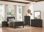 Homelegance Mayville 4-Piece Upholstered Bedroom Set in Grey Image 1