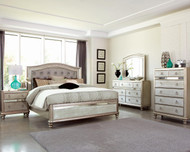 Coaster Starstruck Collection 5-Piece Bedroom Set in Platinum