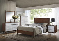 Coaster Charity Collection Mid-Century Modern 5-Piece Bedroom Set Wide