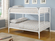Coaster Fordham Full Over Full Bunk Bed in White