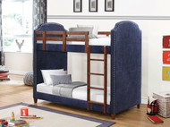 Coaster Diego Twin Over Twin Bunk Bed in Navy Blue