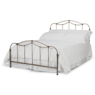 Fashion Bed Group Kalina Metal Panel Bed in Brushed Bronze