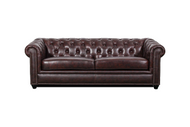 J Graham Parker Genuine Top Grain Leather Chesterfield Sofa 2