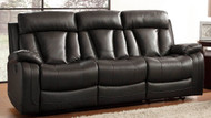 Homelegance Ackerman Collection Dual Reclining Sofa in Black Leather 2