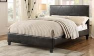 iDealbed DeLeon Upholstered Platform Bed in Dark Brown
