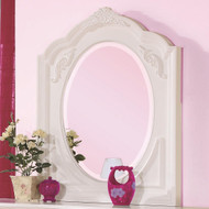Coaster Caroline Oval Mirror in White