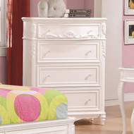 Coaster Caroline Tall Chest in White