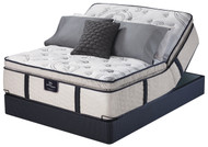 Serta Perfect Sleeper Elite Emerald Oaks Super Pillow Top Mattress Pivot Head Up Adjustable Set