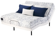"Serta Perfect Sleeper Lynview 9"" Gel Memory Foam Mattress Motion Essentials II Adjustable Bed Set"