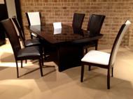 Homelegance Daisy Rectangular Dining Table with Glass Insert Set