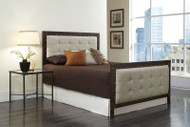 Fashion Bed Group Gotham Upholstered Bed in Latte / Brushed Copper