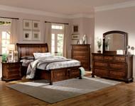 Homelegance Cumberland Collection Platform Bed - Brown Cherry