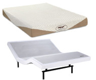 "Serta Motion Essentials II Adjustable Base with MLily Harmony 10"" Gel Memory Foam Mattress Set"