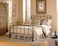 Fashion Bed Group Fenton Metal Bed Black Walnut